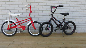 Pair of kid's bikes/$20. ea. The red one has just sold.