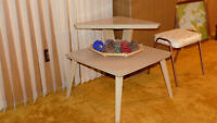 Vintage formica lamp table