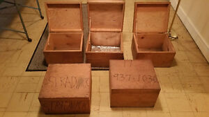 Solid Wood Storage Boxes