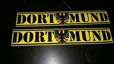 50x Aufkleber Dortmund mit stadtadler Ultra selten rar