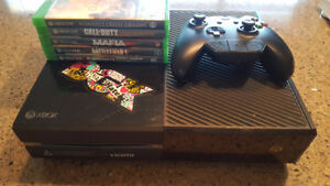 $250.00 OBO XBOX 1 500GB FOR SALE WITH 5 GAMES/ HEADSET