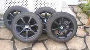 Roue BMW 328i avec pneu hiver general altimax arctic 205/55/16