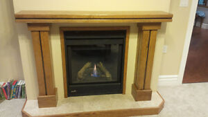 Solid Oak Fireplace Mantle - NEW Kitchener / Waterloo Kitchener Area image 1