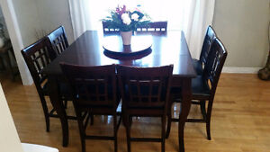 10 piece Pub height table and chairs