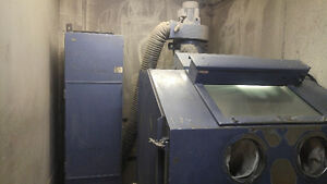 Large Cabinet Style Industrial Sandblaster for Sale
