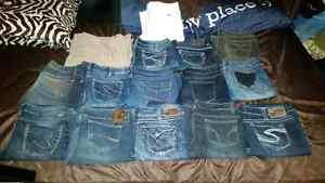Jeans all different kinds silver/parasuco/guess/request/motto