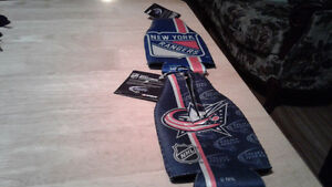 Bud light new bottle cooler new York Rangers, and Columbus Blue