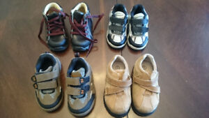 2 pair of size 4 and 2 pair of size 5 shoes.