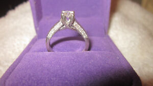 Womans White Gold Engagment Ring