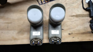 Two dual LNB's for satellite dish