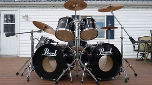 7 Piece Pearl Export Double Bass kit with Sabian cymbals