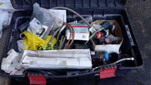 Tubs of Electrical/plumbing supplies