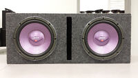 """2 Clarion 10"""" Subs in Ported Box"""