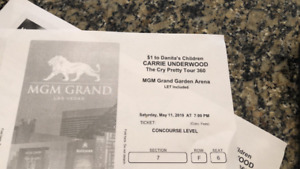 2x Tickets for Carrie Underwood @ MGM Grand / Las Vegas, May 11.