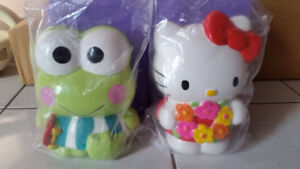 NEW Hello Kitty and Keroppi Coin Banks