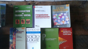 Livres en service social et sociologie.