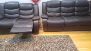 Sofa three seater and love seat recliner text 647 978 4570
