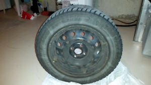 Honda Civic Goodyear tires with rims. Size P185/65R15