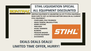 STHIL LIQUIDATION SALE - SONTRAC EQUIPMENT