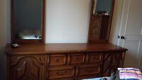 Solid Oak Bedroom Set For Sale