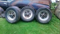 70s/80s buick chrome rally rims , trade 4 chevy 2wd duel exhaust