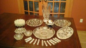 Ensemble de pièces en verre taillé et cristal Pinwheel