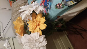 Giant fabric flowers