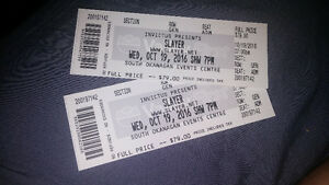 Two Slayer Tickets-Penticton