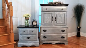GORGEOUS SOLID WOOD DRESSER AND NIGHTSTAND