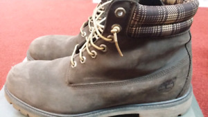 """6"""" New Dark Brown Timberland Boots Size 12"""