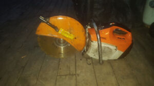 Stihl chop saw with diamond blade $500 or best offer