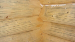 Handcrafted log home shell-diamond cut notches_ Cornwall Ontario image 4