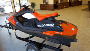 2017 SEA-DOO SPARK 2 UP ROTAX 900 ACE WITH TRAILER $7599