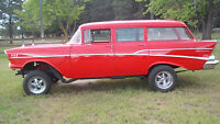 57 Chevy Wagon GASSER 454 Fire Engine Red