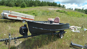 12ft Aluminum Boat Package.