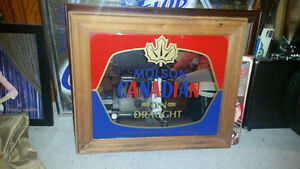 Vintage Molson Canadian beer mirror in excellent condition......