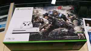 X box one s  1 tb with gears of war 4