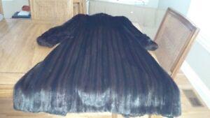 Designer Black Mink Fur Coat