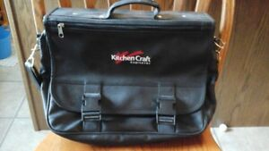 Heavy Leather Laptop Carry Case with shoulder strap