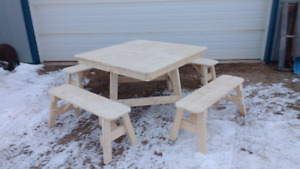 Picnic table set.