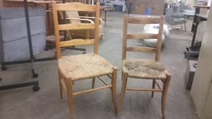 Two homemade wood chairs