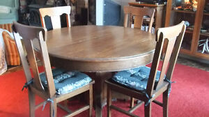 Oak Table and Chairs for Sale