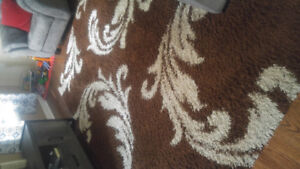 Shag rug and curtains for sale!!