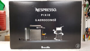 Breville Nespresso Pixie & Aeroccino3 Frother - NEW