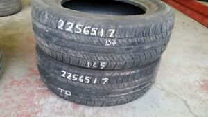 Pair of 2 Dunlop Signature II 225/65R17 tires (55% tread life)