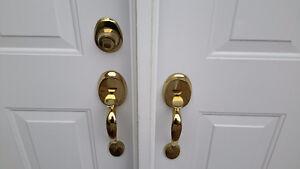 Front door handle and lock