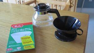 CAFETIÈRE-FILTRE NEUVE et filtres à café en bonus!!!