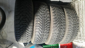 P205/55/R16 Snow Tires With Rims For $250