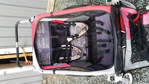 Double Chariot stroller with accessories Comox / Courtenay / Cumberland Comox Valley Area image 2