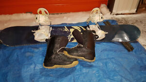 2 Snowboards with boots and bindings. Size 13